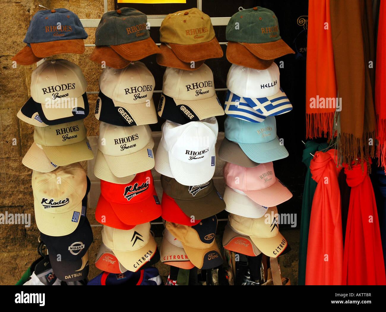 Cappelli da baseball con Rhodes ricamato sul davanti per deliziare i  turisti che visitano l  21d81c99f835
