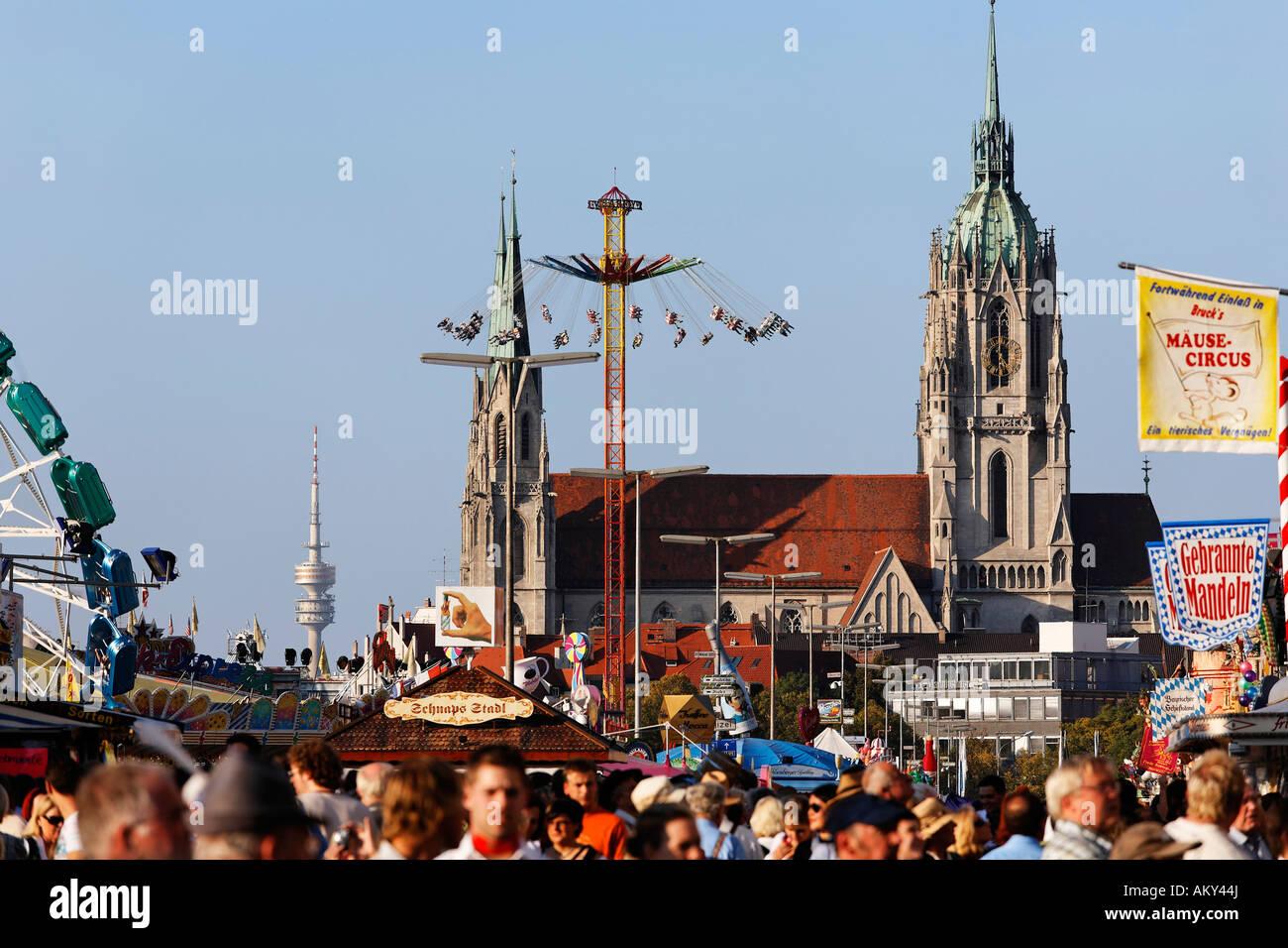 Oktoberfest Monaco festa della birra, Baviera, Germania Immagini Stock