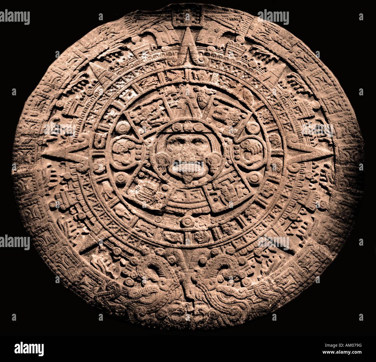 Il Calendario Maya.Aztec Pietra Del Sole Il Calendario Maya Messico Maya Museum