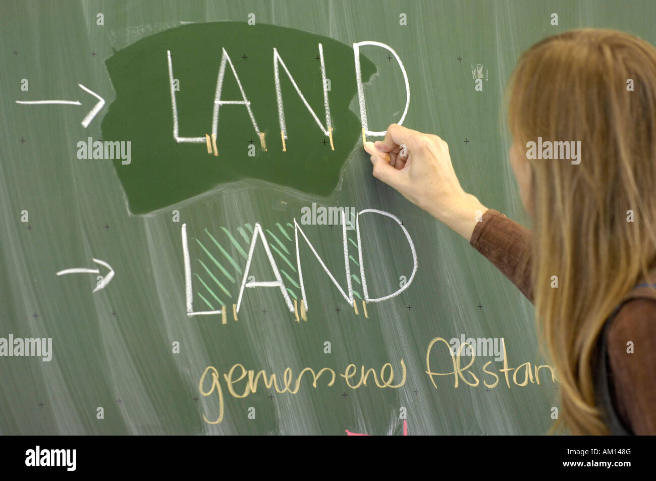 Istruzione - black board - la tipografia. Studente di scuola superiore di business per la composizione. Immagini Stock