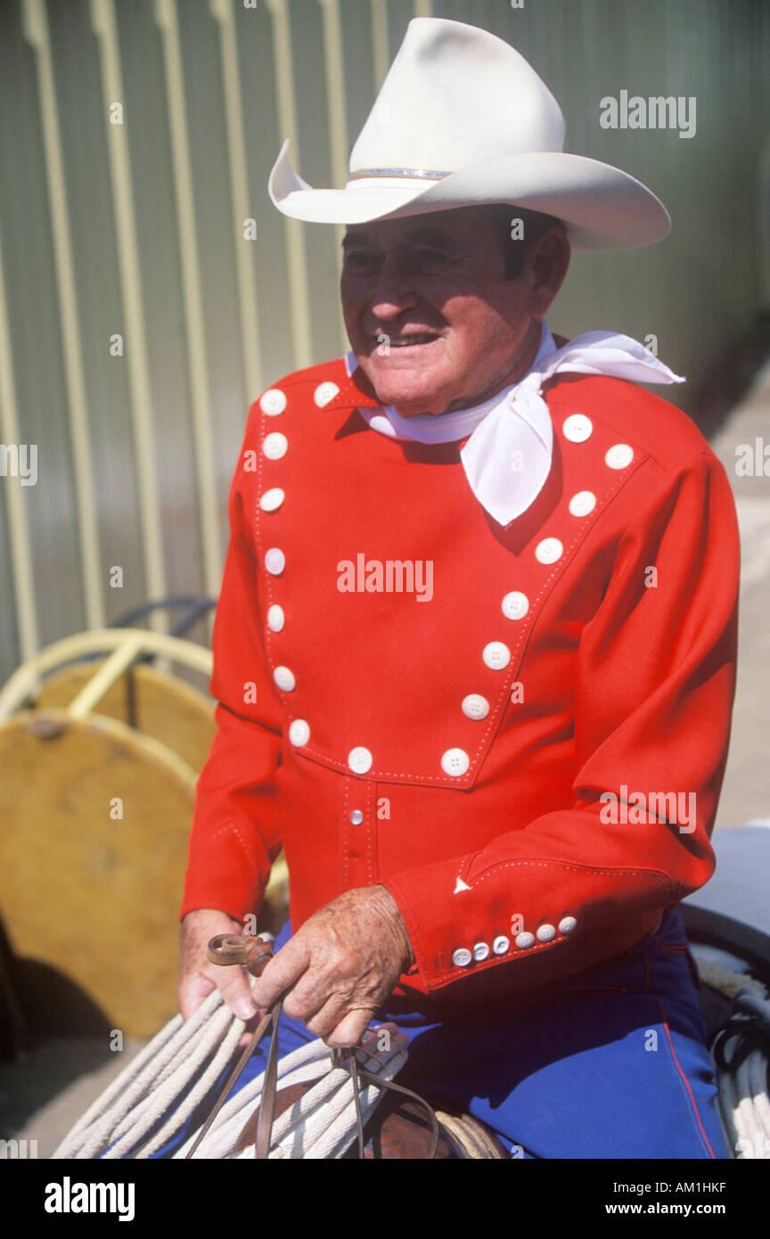 Il leggendario Monty Montana cowboy Labor Day rodeo
