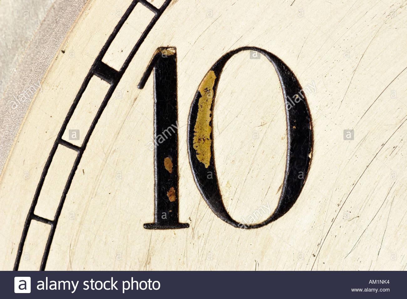Numero dieci. Immagini Stock