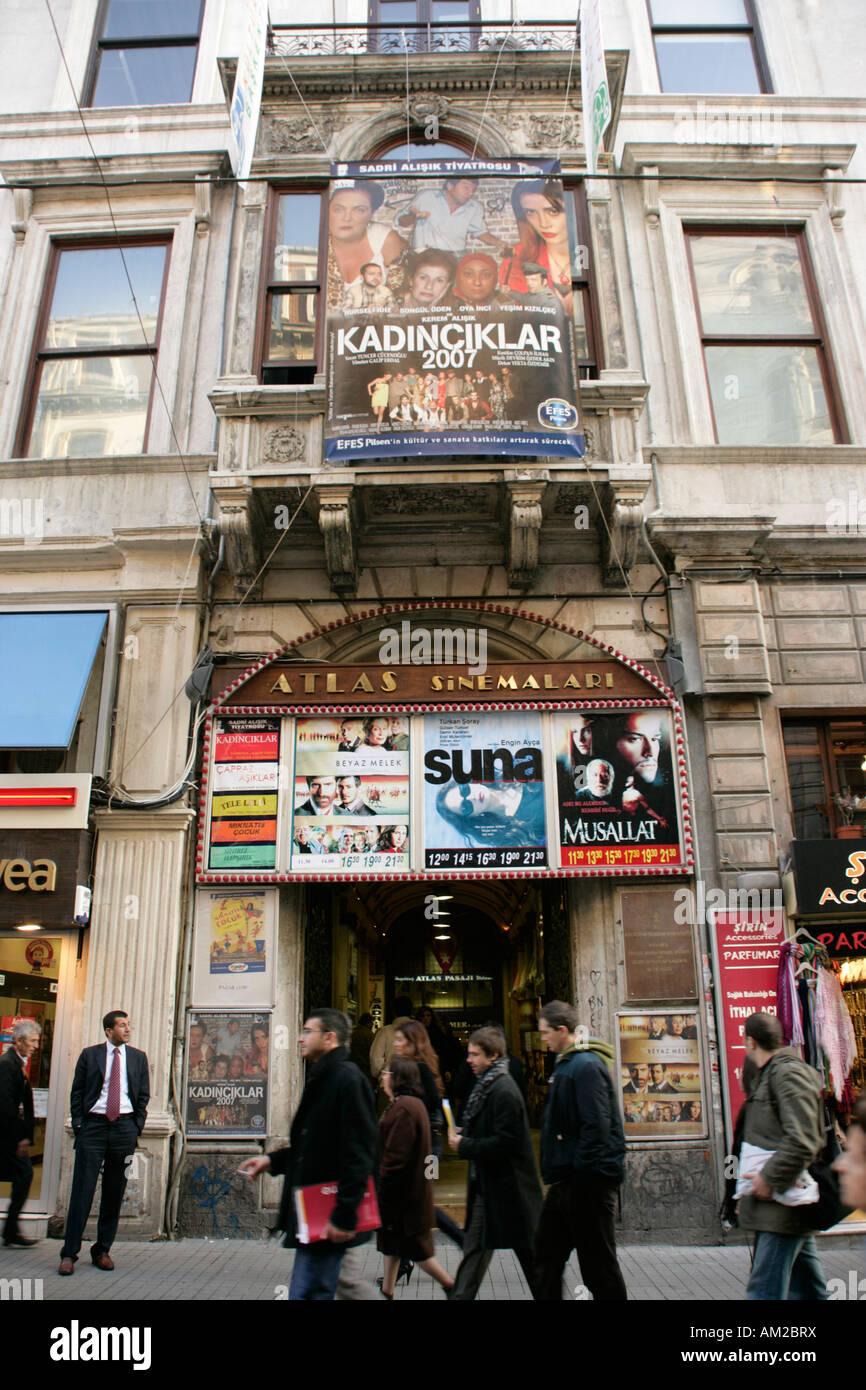 Cinema turco in Beyoglu, Istanbul, Turchia Immagini Stock
