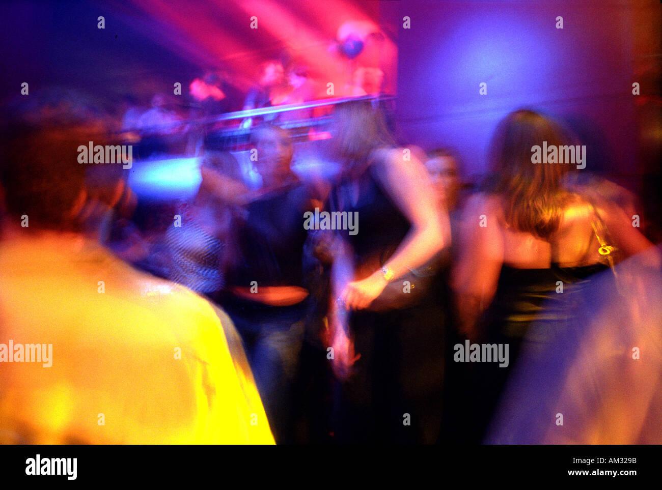 Discoteca in scena al club di Londra. Immagini Stock