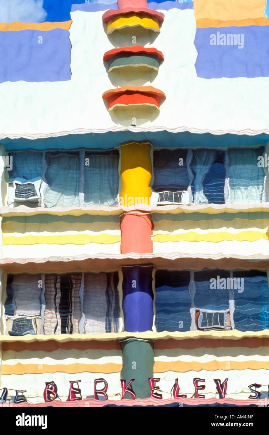 Foto Impressionismo per effetto di un art deco di South Beach Miami edificio Miami Florida Immagini Stock