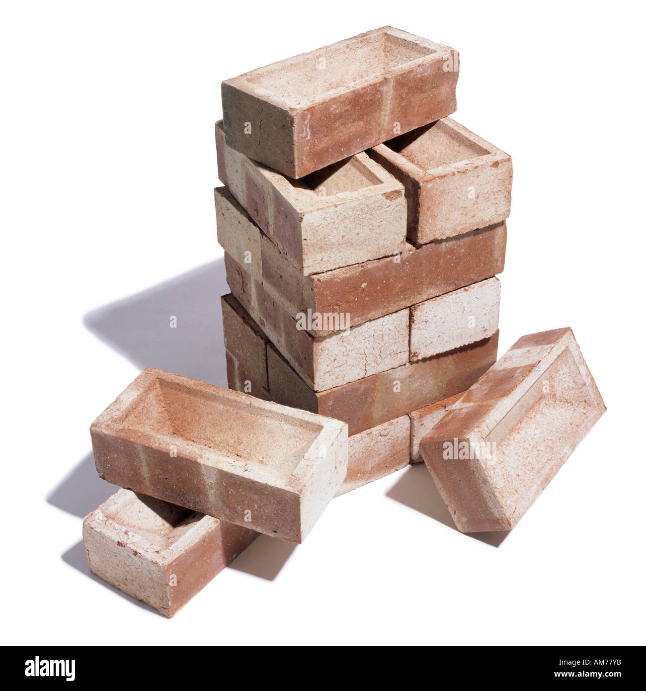 Un mucchio di mattoni Immagini Stock