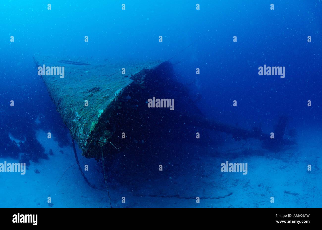 Hilma Hooker nave relitto Bow Antille Olandesi Bonaire Mar dei Caraibi Immagini Stock