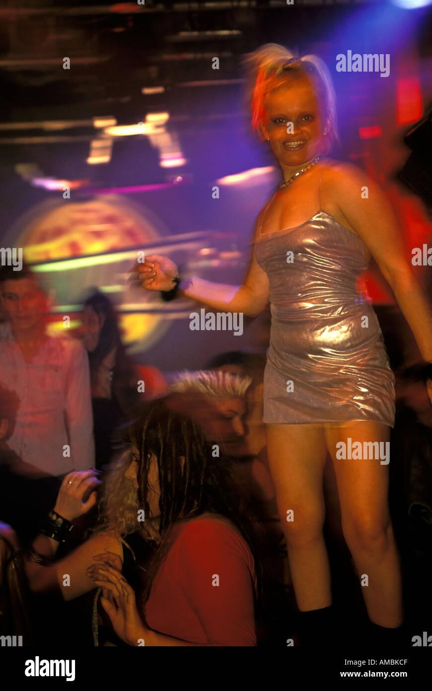 Buenos Aires vita notturna in discoteca Pacha Immagini Stock