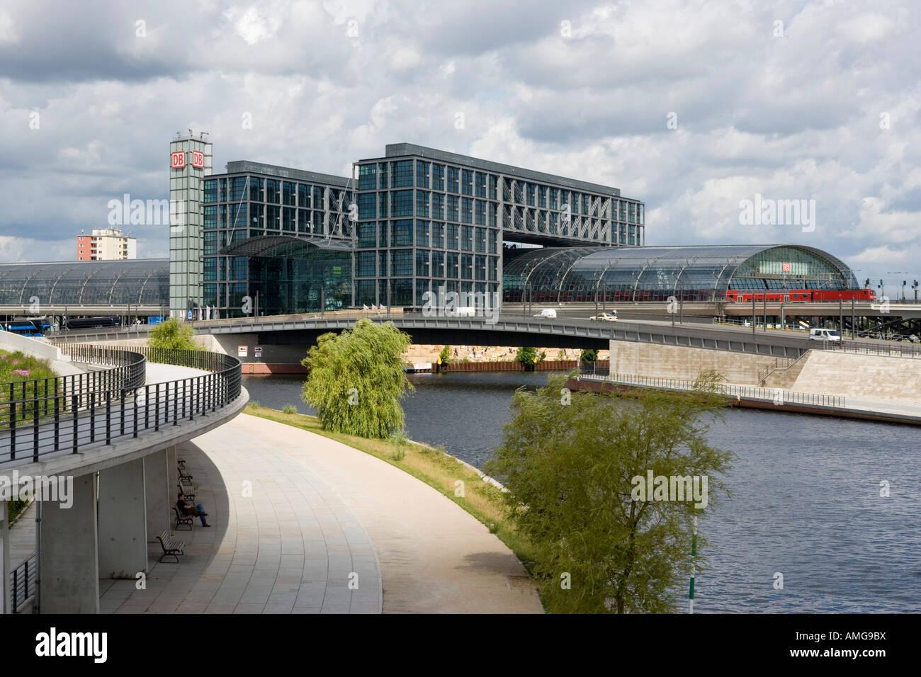 Stazione centrale di Berlino. Architetto: Gerkan Marg e partner Immagini Stock