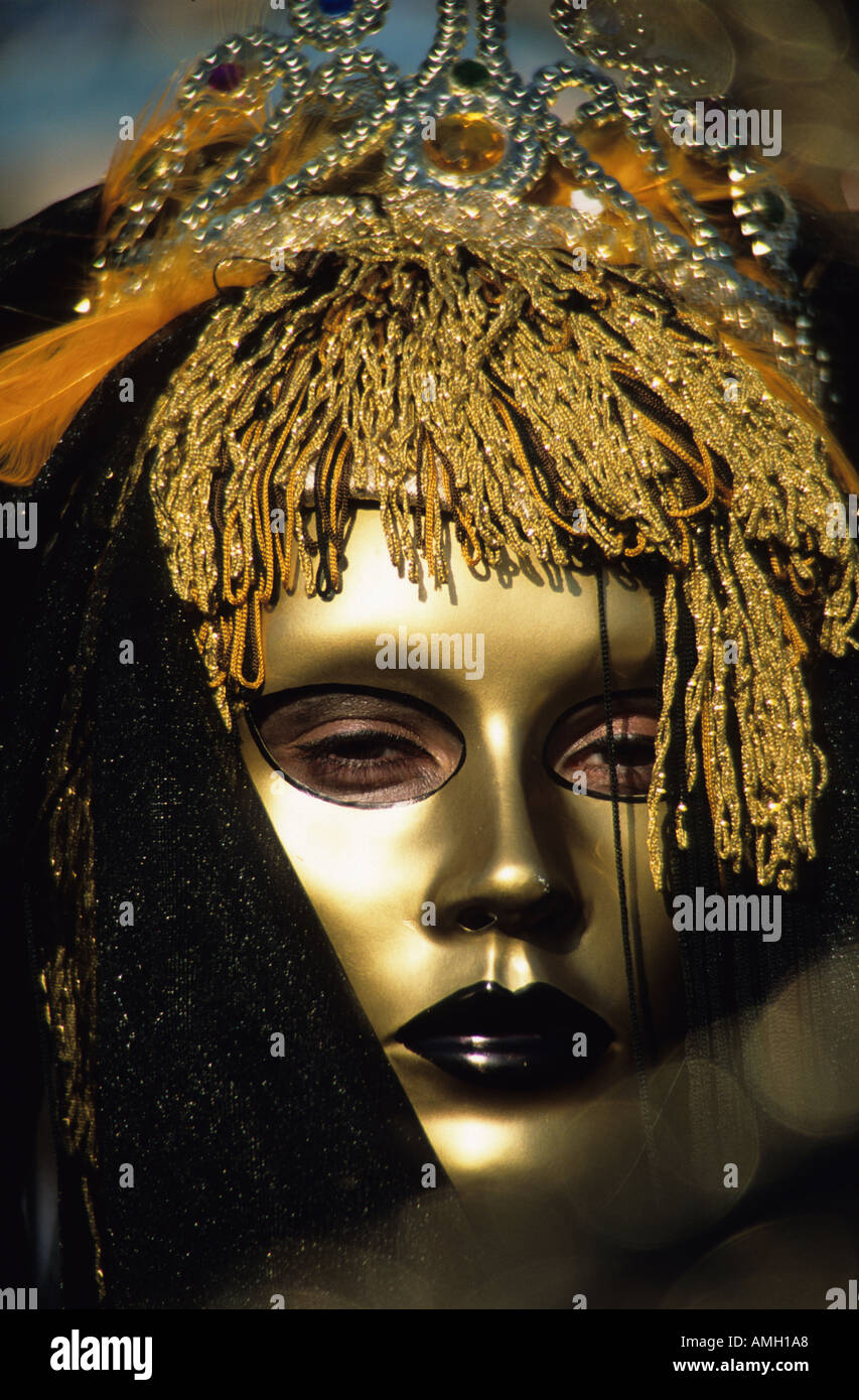Maschera Veneziana, Carnevale di Nizza Francia Foto Stock