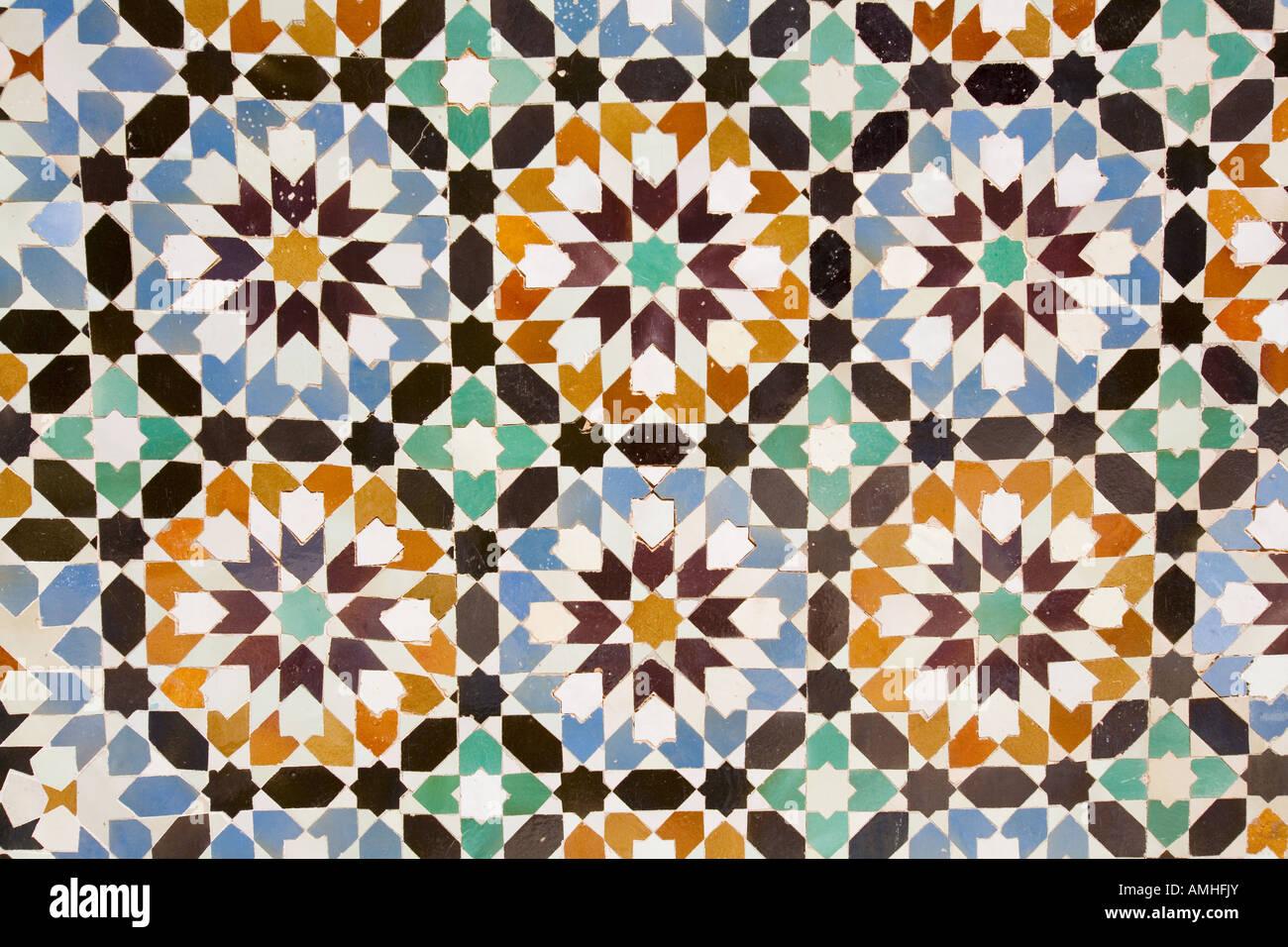 Mosaico arabo, il frammento Immagini Stock