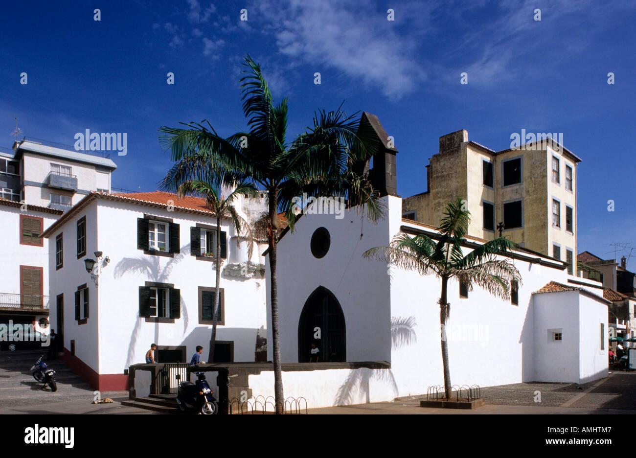 Il Portogallo, Madera, Funchal, Capela de Corpo Santo beim Forte de San Tiago Immagini Stock