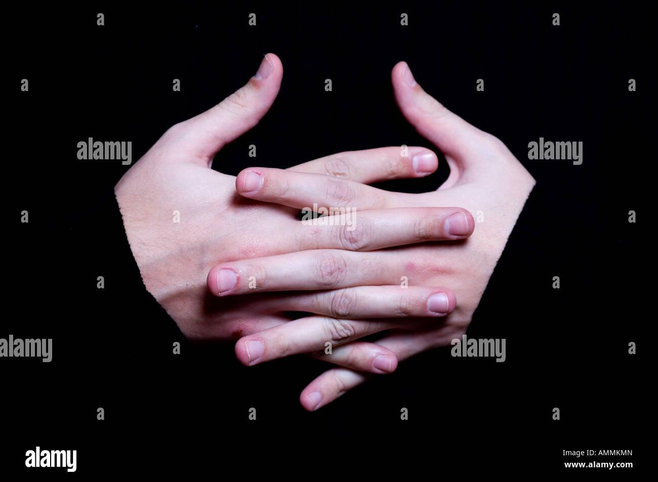 Collegate le mani Immagini Stock