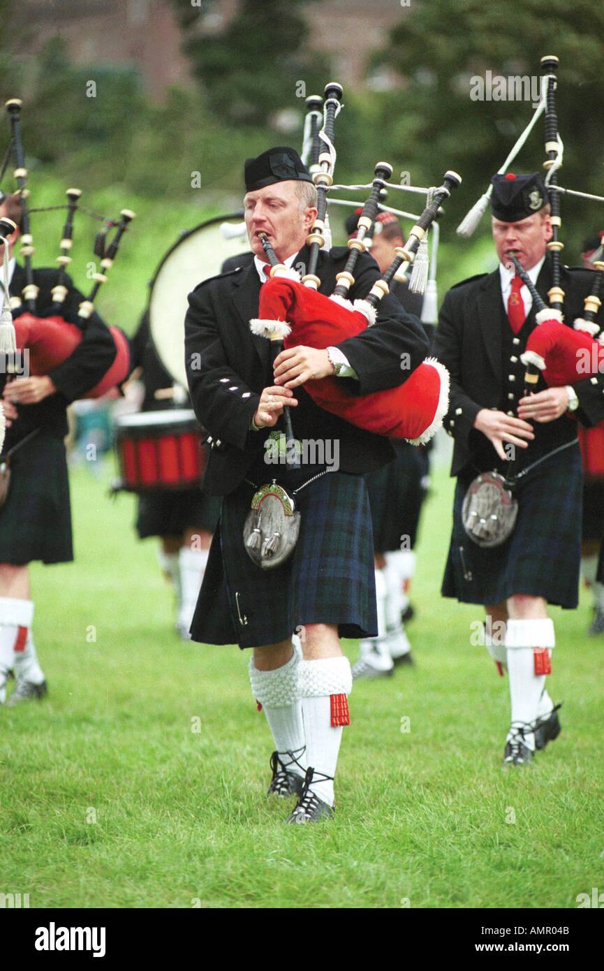 Mondo campionati Pipeband Glasgow Foto Stock