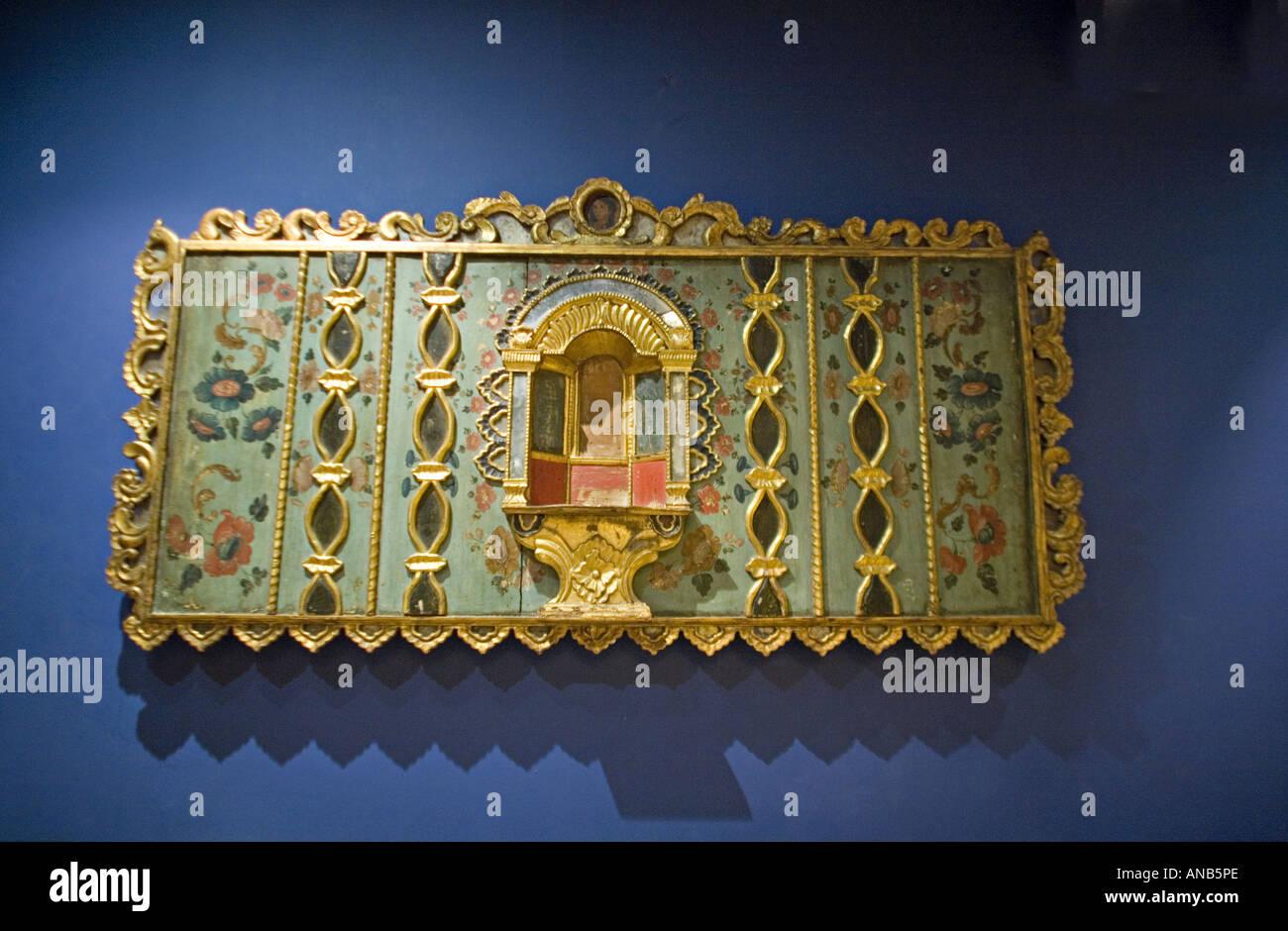 GUATEMALA ANTIGUA in legno intagliato dell'arte religiosa presenti nel museo di arte coloniale Immagini Stock