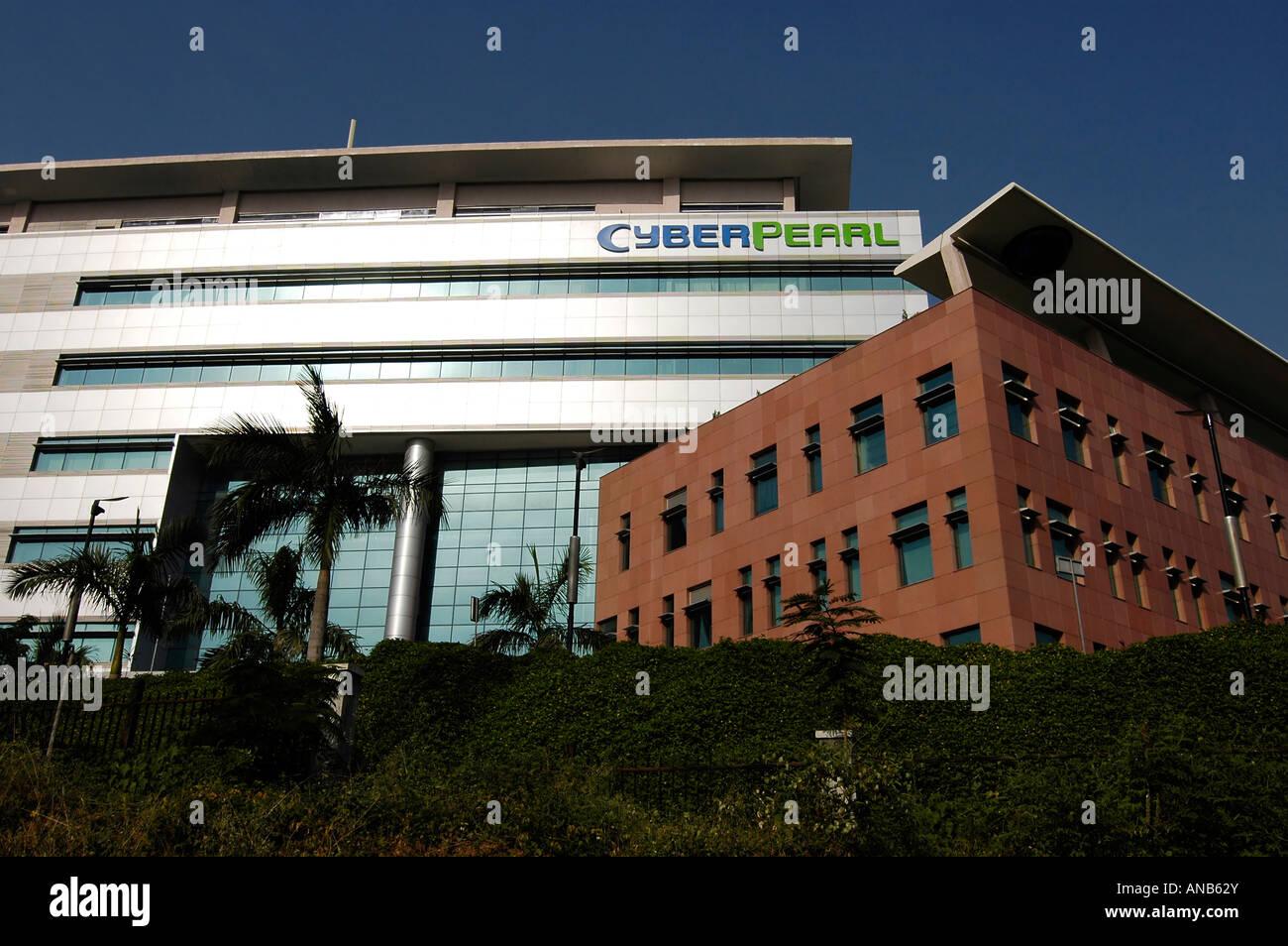 Il 'Cyber perla' edificio in Hyderabad è park, India Centrale. Immagini Stock