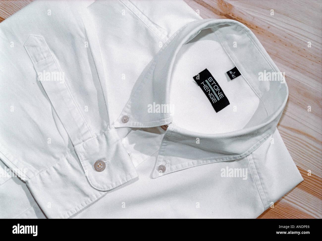 Camicia colletto bianco Immagini Stock