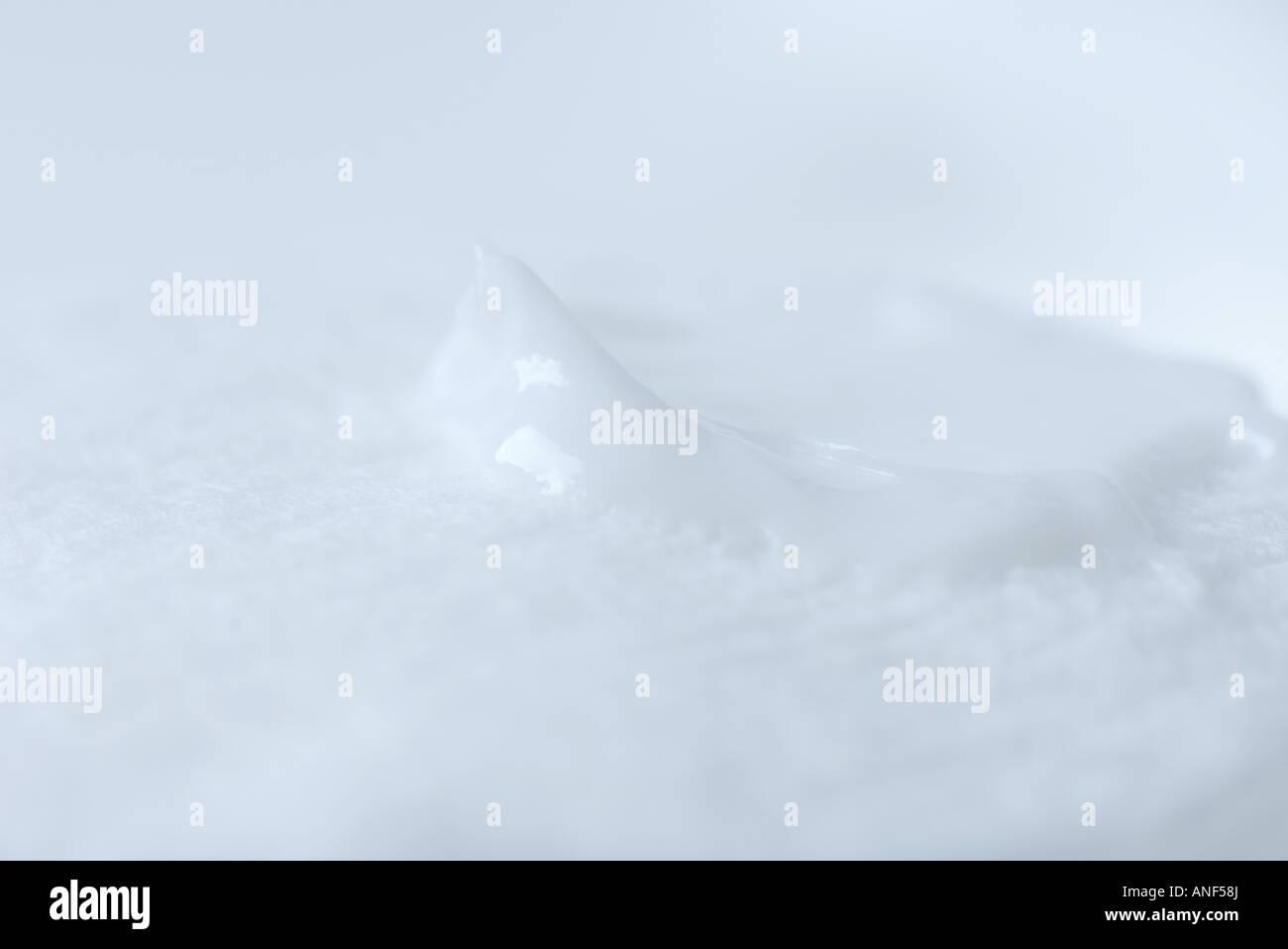 La lozione sul tampone di cotone, extreme close-up Immagini Stock