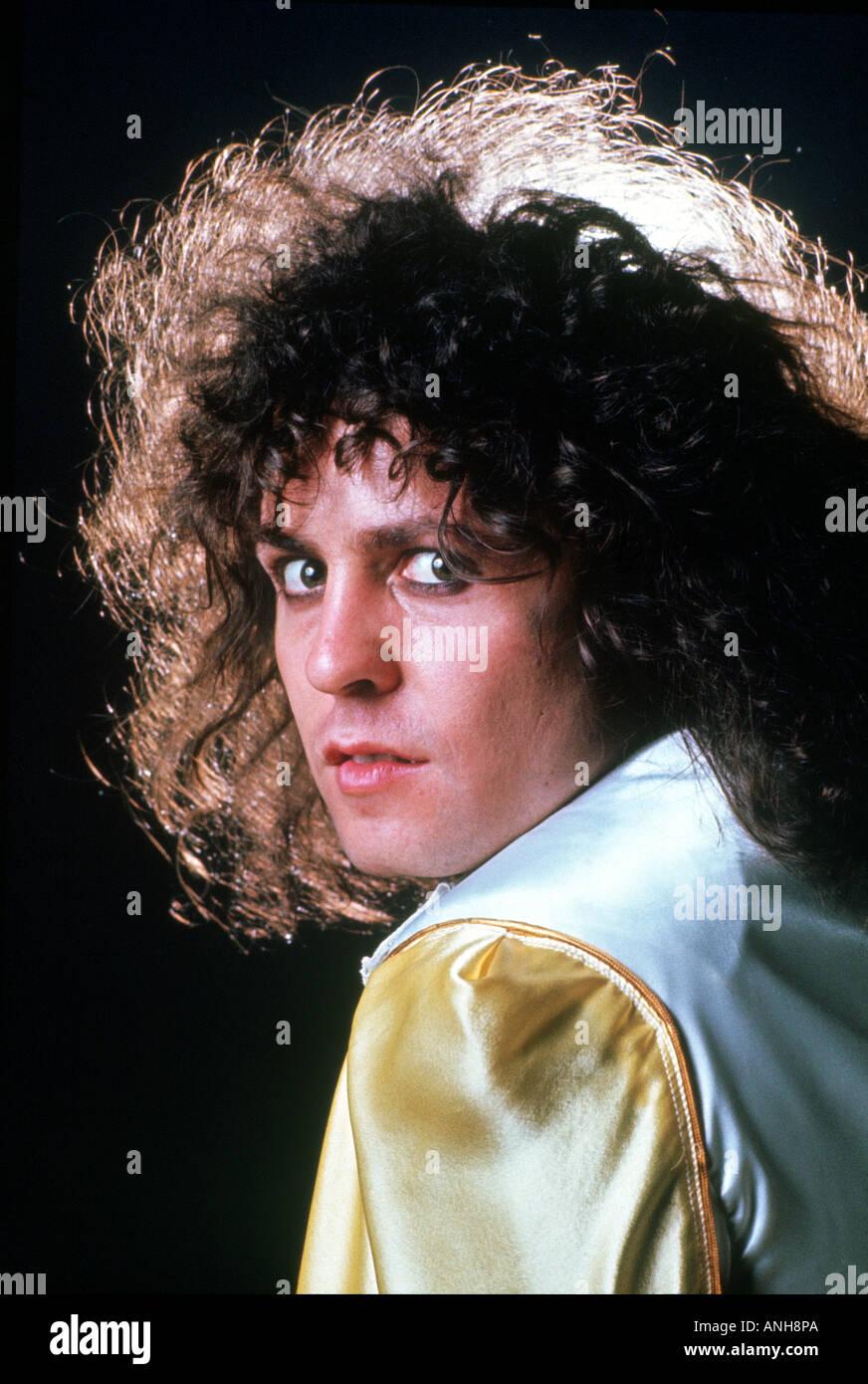 MARC BOLAN musicista del Regno Unito circa 1975 Immagini Stock