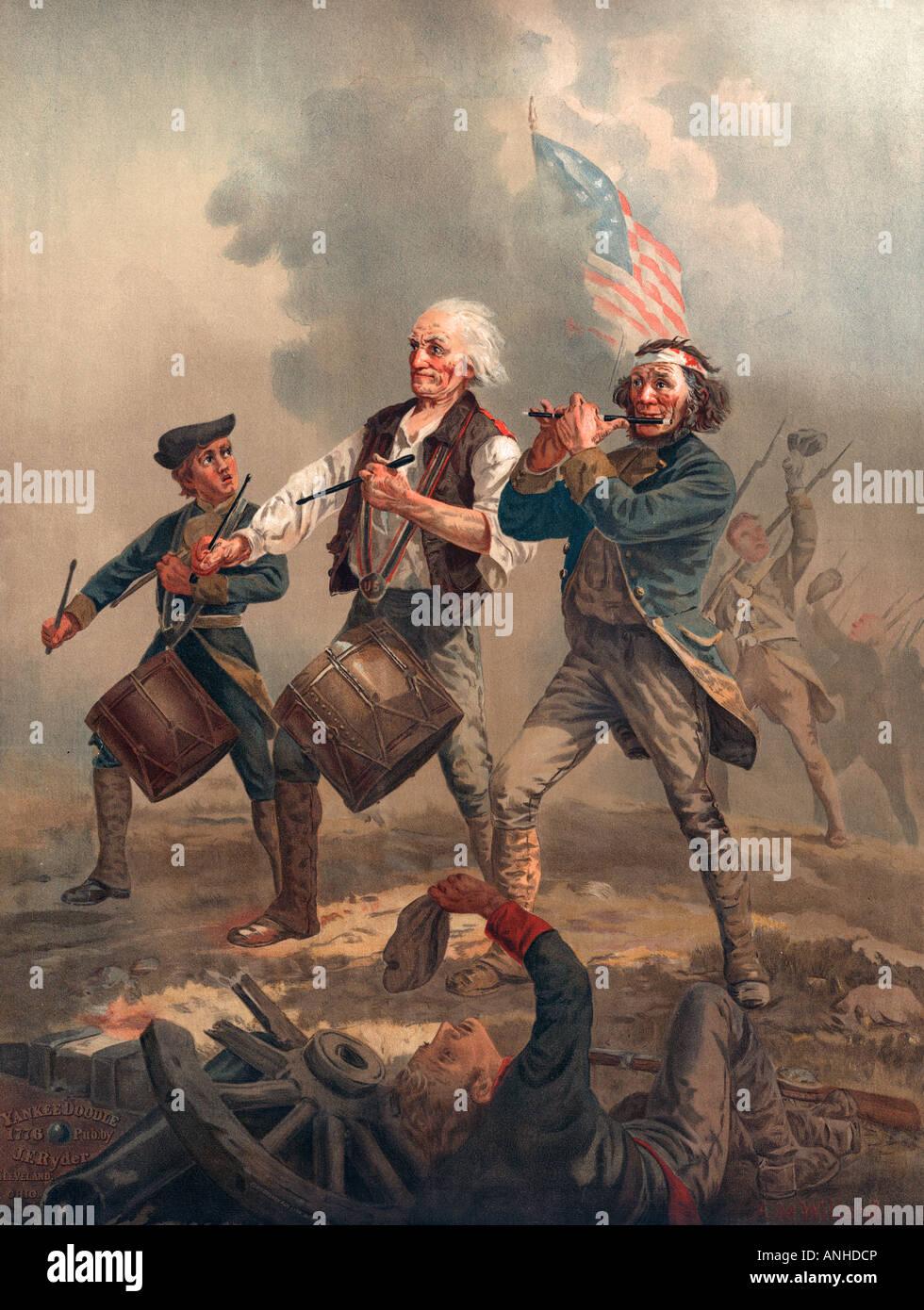Yankee Doodle o lo spirito di 76 Chromolithograph pubblicato da J F Ryder dopo Archibald M Willard Immagini Stock