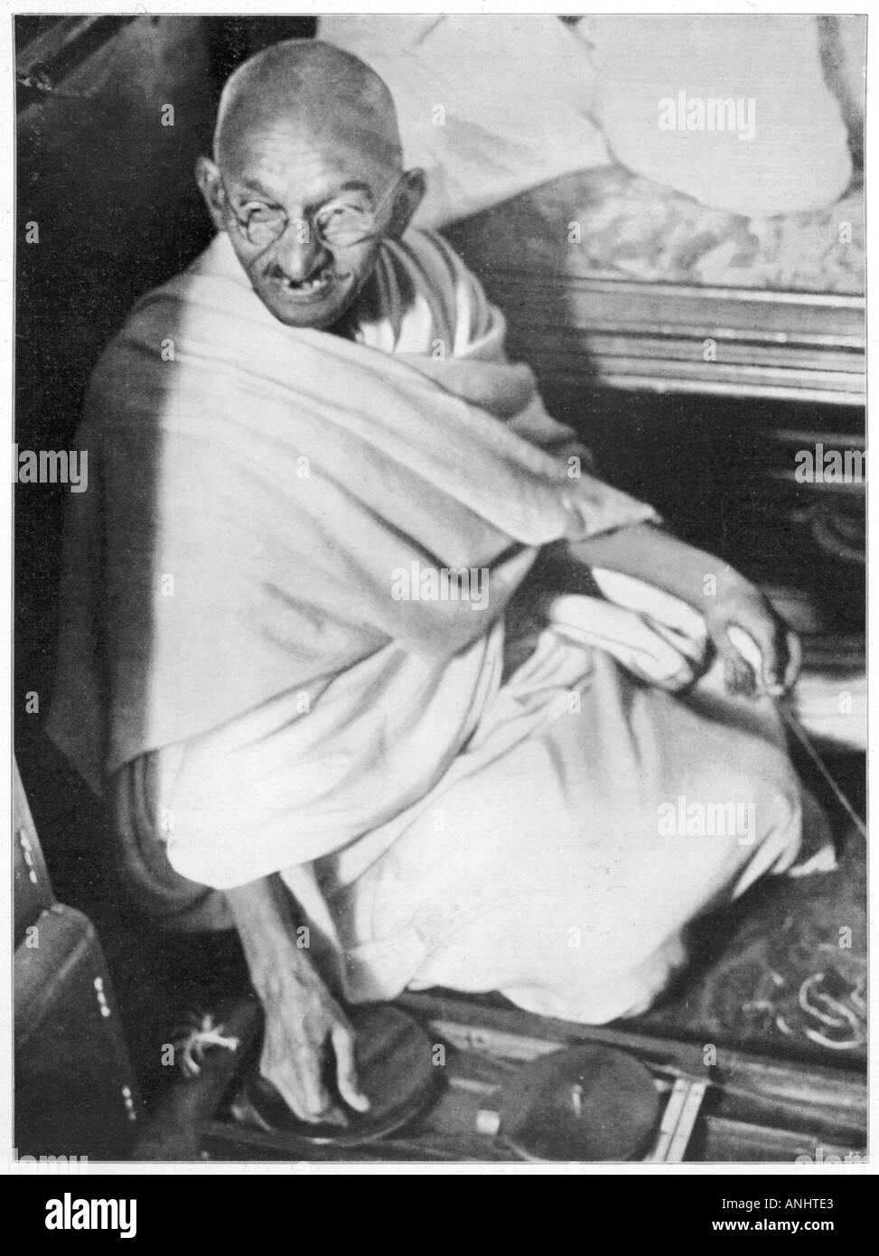 Il Mahatma Gandhi Ilz 1931 Immagini Stock