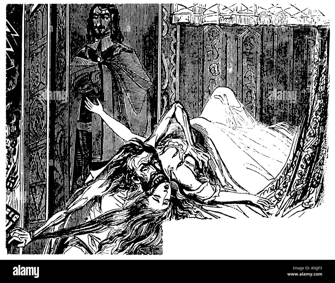 Varney il vampiro Immagini Stock