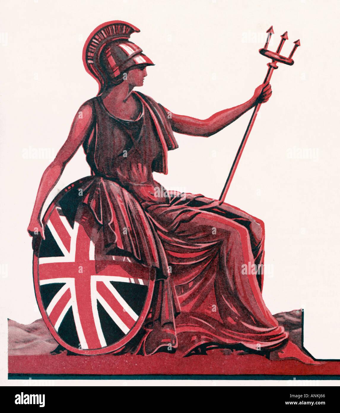 Britannia Mag Red Immagini Stock