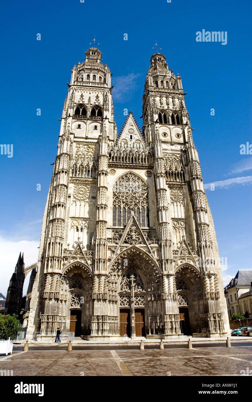 Cattedrale di Tours Immagini Stock
