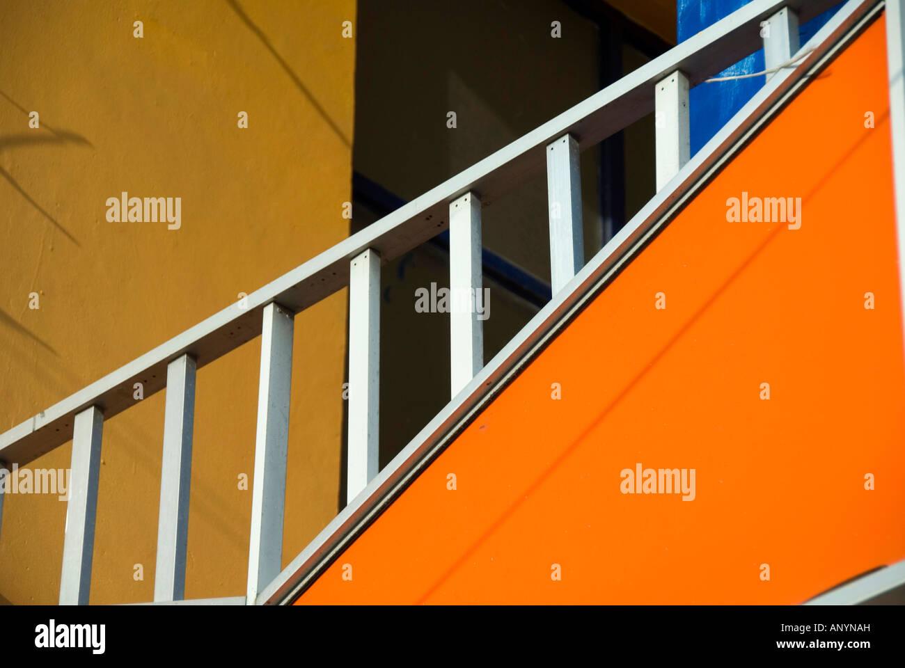 Colori luminosi di architettura messicana Immagini Stock