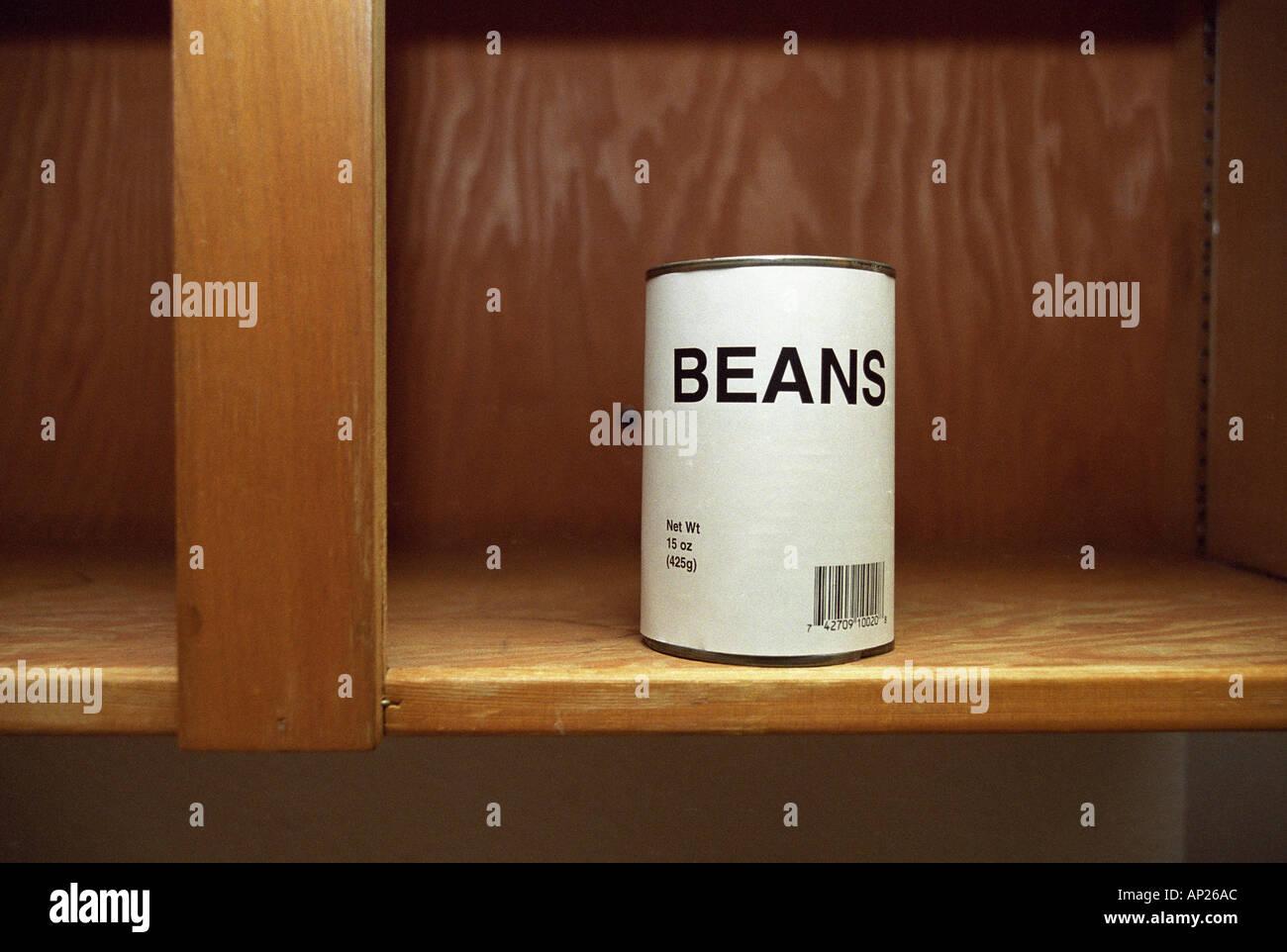 Possibile di fagioli generico in armadio vuoto Immagini Stock
