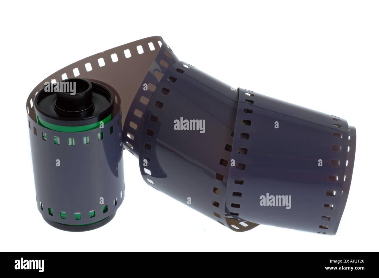 Rotolo di pellicola di 35mm Immagini Stock