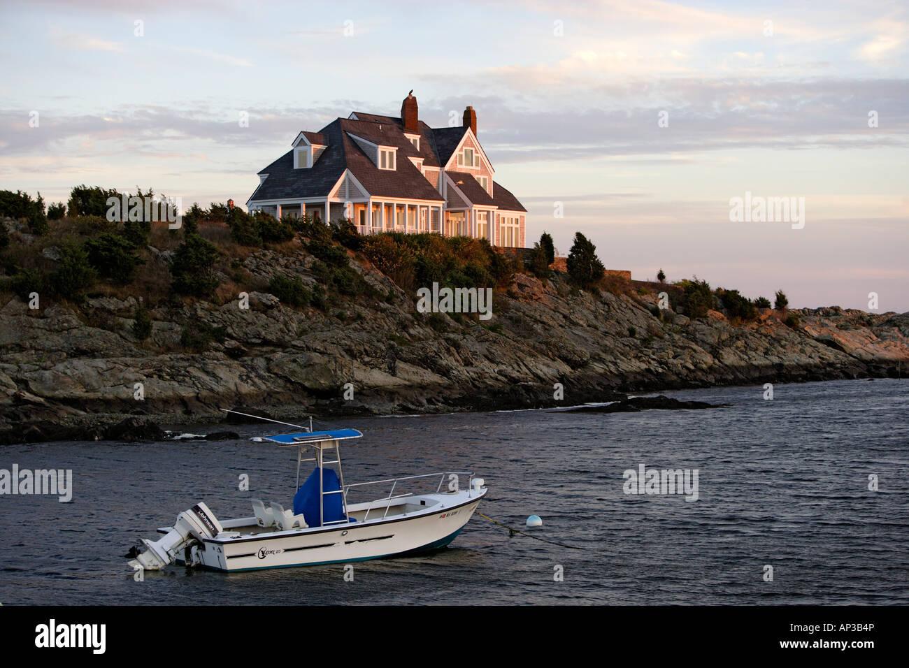 Case esclusive su Ocean Drive a Newport, Rhode Island, Stati Uniti d Ameica, STATI UNITI D'AMERICA Foto Stock