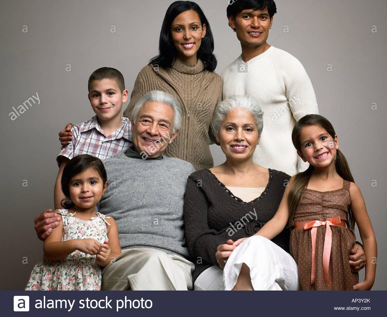 Ritratto di famiglia Immagini Stock