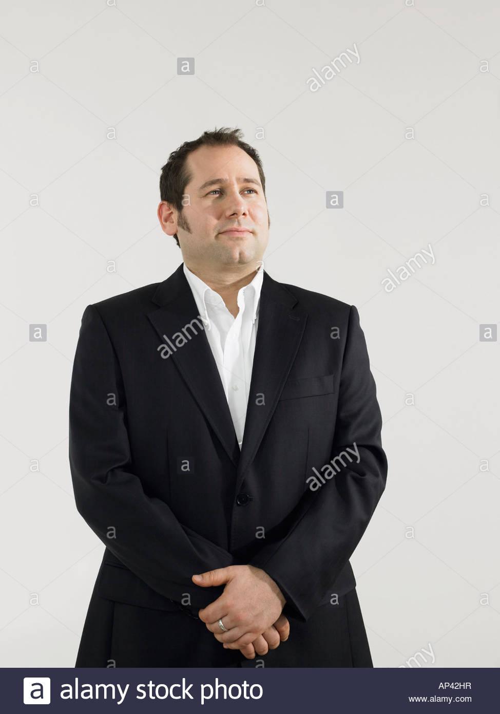 Ritratto di una metà di uomo adulto Immagini Stock
