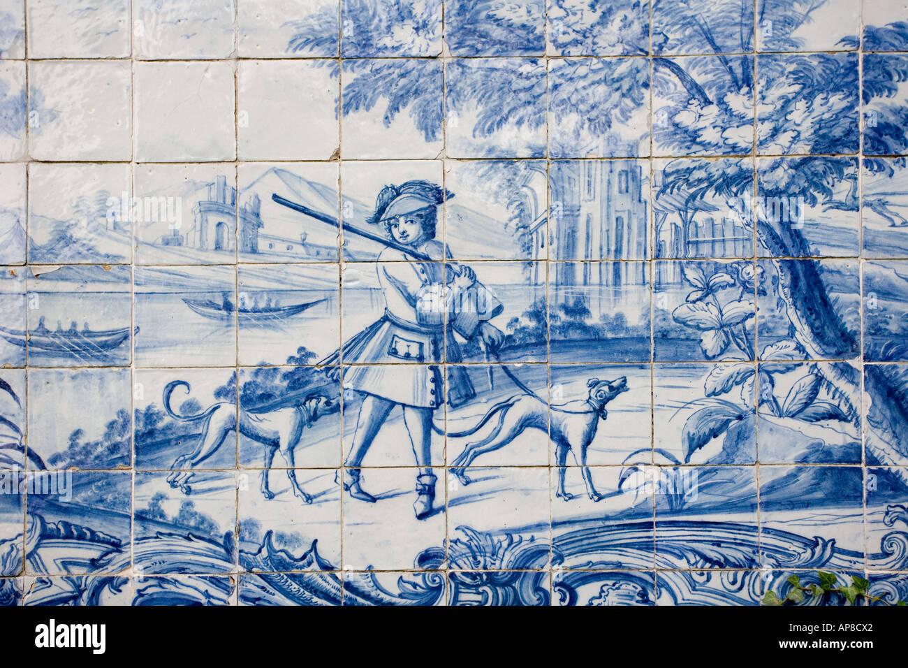 Delft con piastrelle di terracotta carta murale a jardim do monte