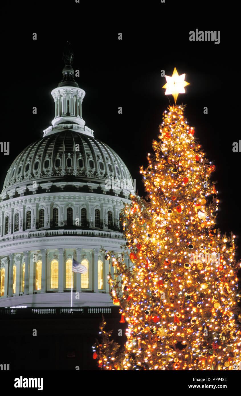Albero Di Natale Washington.Capitol Building Albero Di Natale Washington Dc Foto Stock Alamy