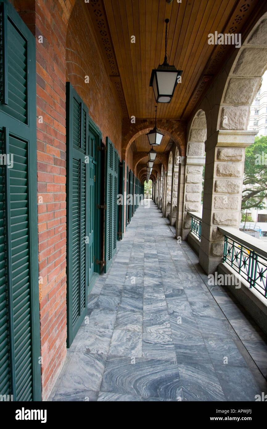 Sai Ying Pun Comunità Complessi British edificio coloniale di Hong Kong Immagini Stock