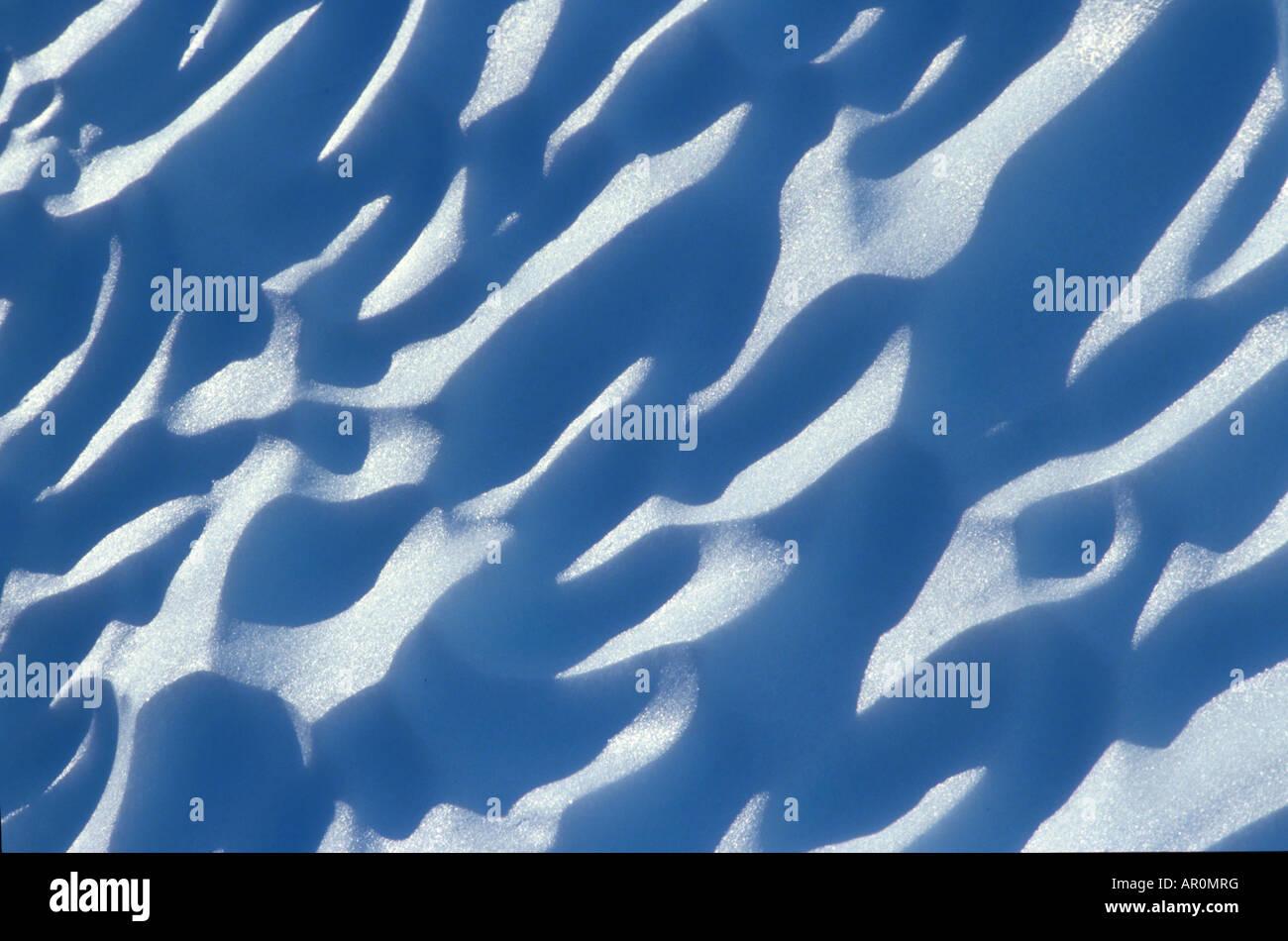Modelli di ghiaccio dal ghiacciaio di close-up Immagini Stock