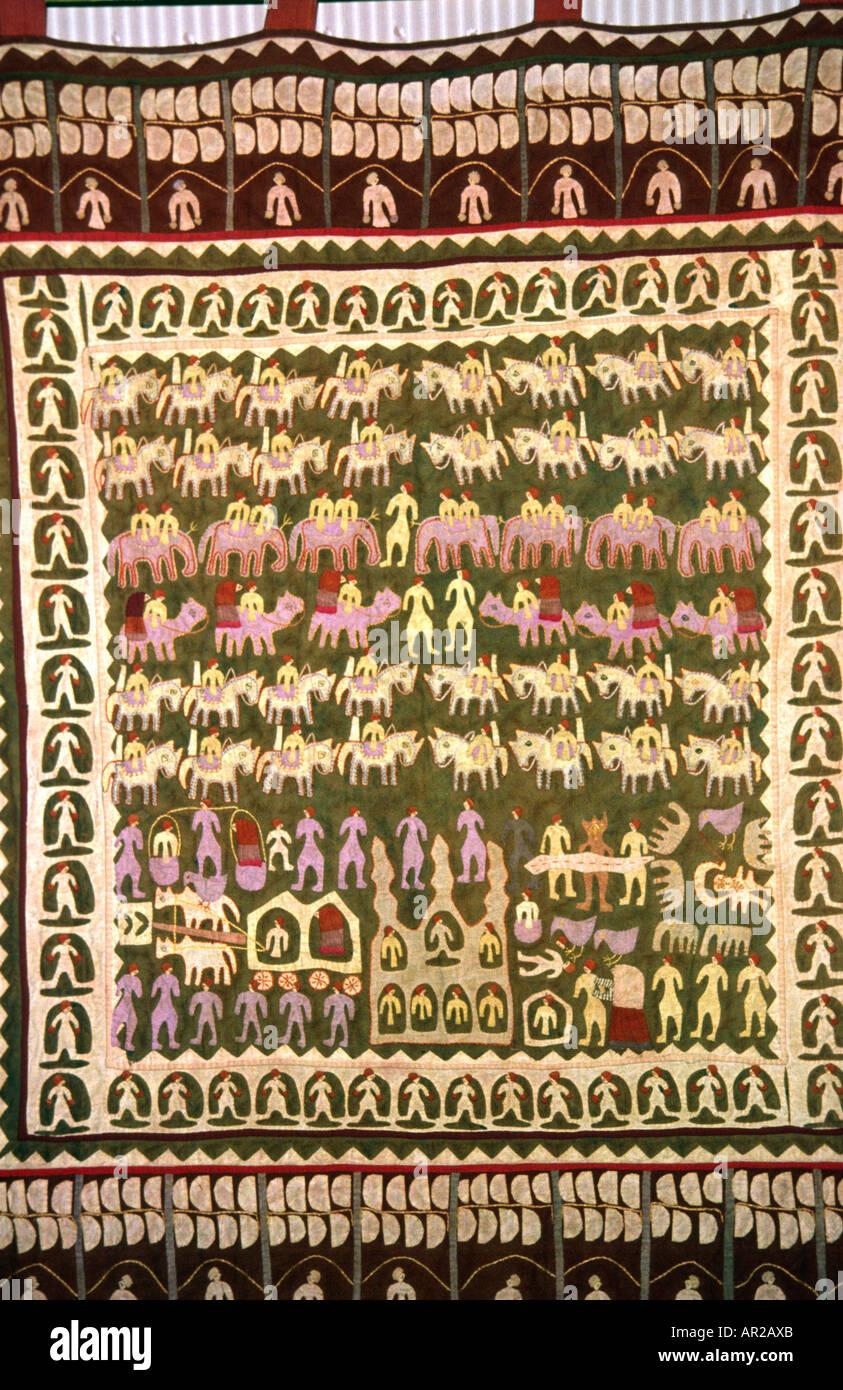 Dubai EMIRATI ARABI Artigianato trapunto applique tappeto tessile Immagini Stock