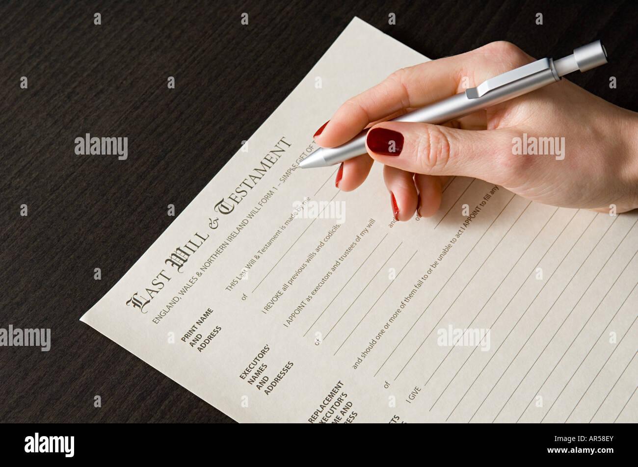 La donna si firma Immagini Stock