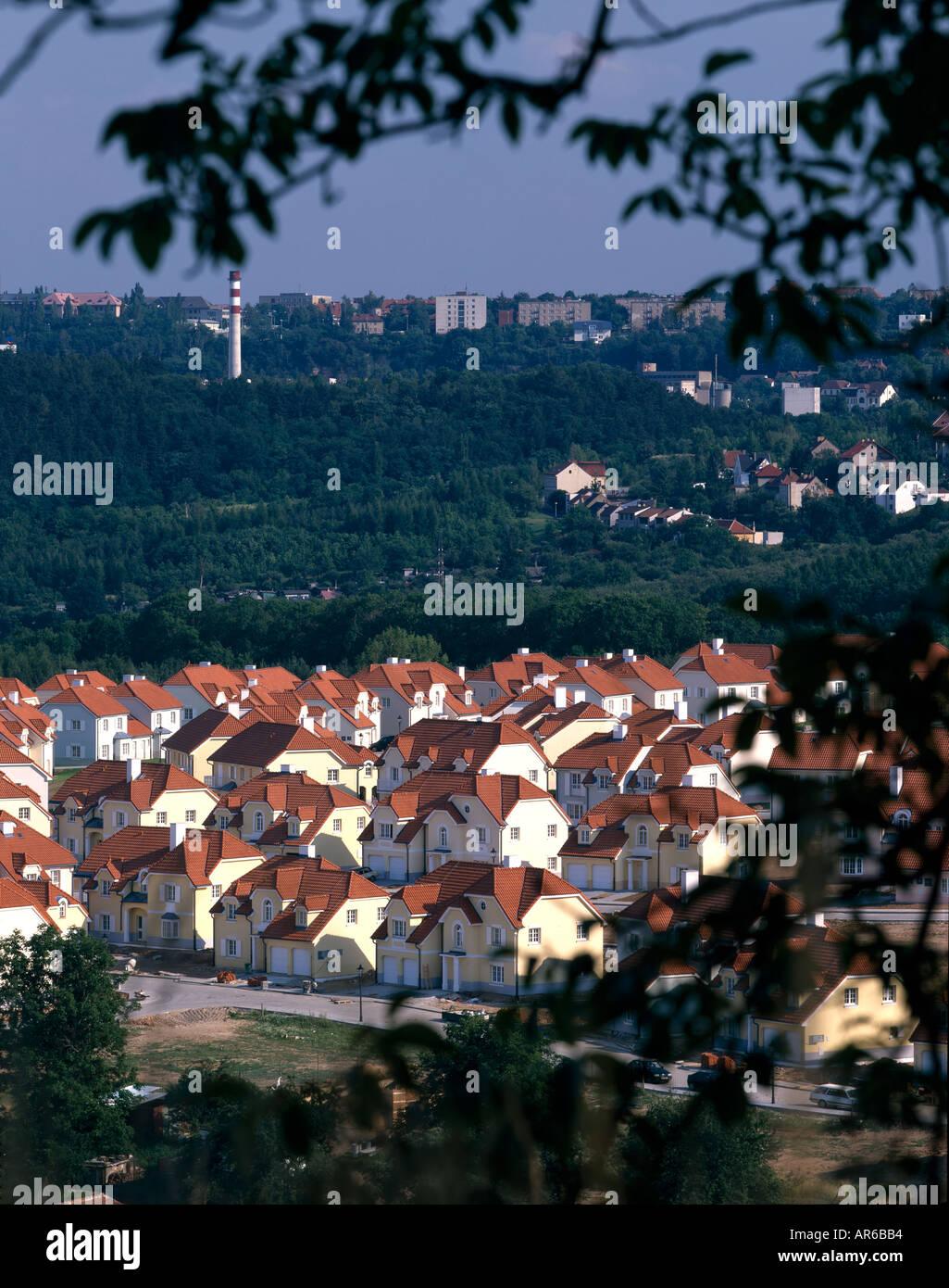 Mala Sarka alloggiamento, Praga. Architetto: Urban Concept Immagini Stock