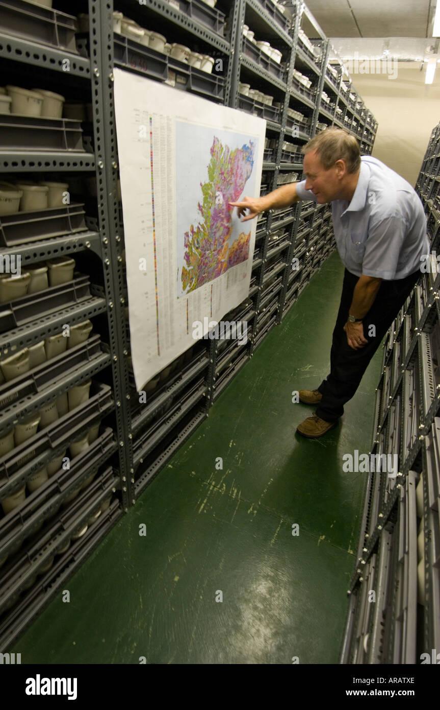 Geoforensic scienza al Macaulay Institute Aberdeen Scotland sep 2006 suolo nazionale archivio per la Scozia Immagini Stock