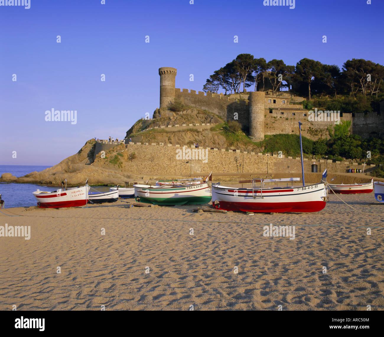 Tossa de Mar, Costa Brava, Catalunya (Catalogna) (Cataluña), Spagna, Europa Immagini Stock
