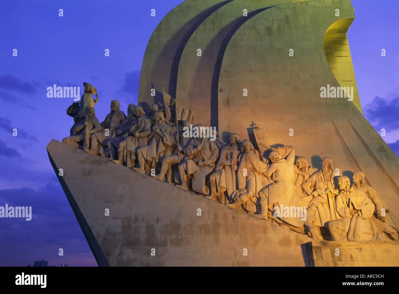 Il Monumento delle Scoperte, Lisbona, Portogallo, Europa Immagini Stock