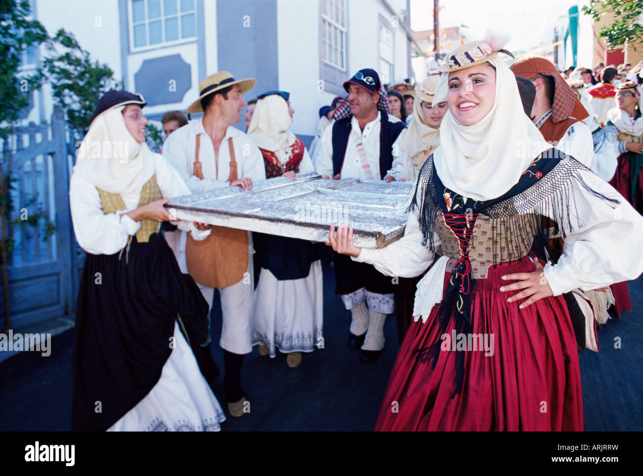 La discesa della Madonna delle Nevi fiesta, Santa Cruz de la Palma la Palma Isole Canarie Spagna Immagini Stock