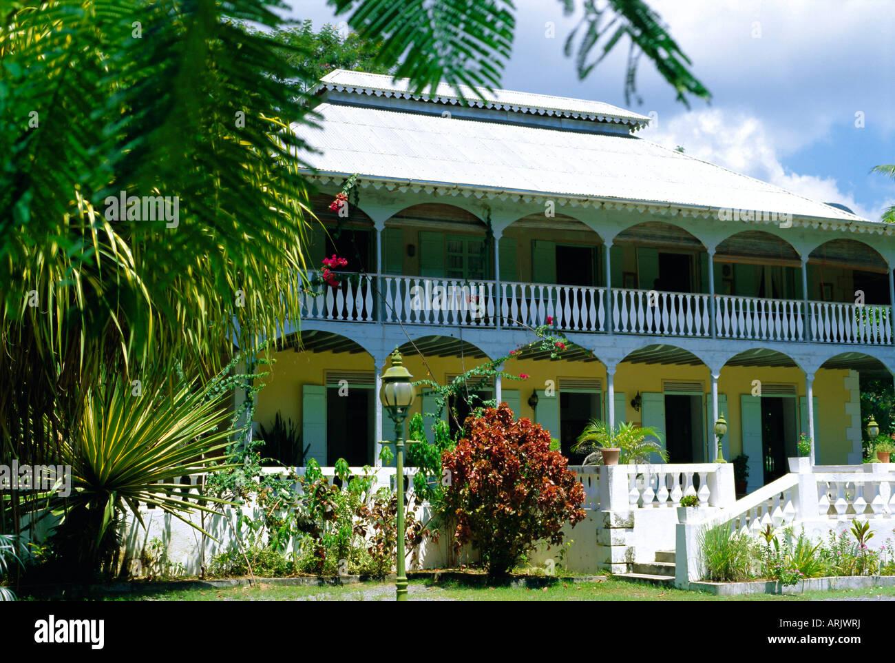 Abitazione San Giuseppe, Seychelles Creole Institute, Mahe, Seicelle Immagini Stock