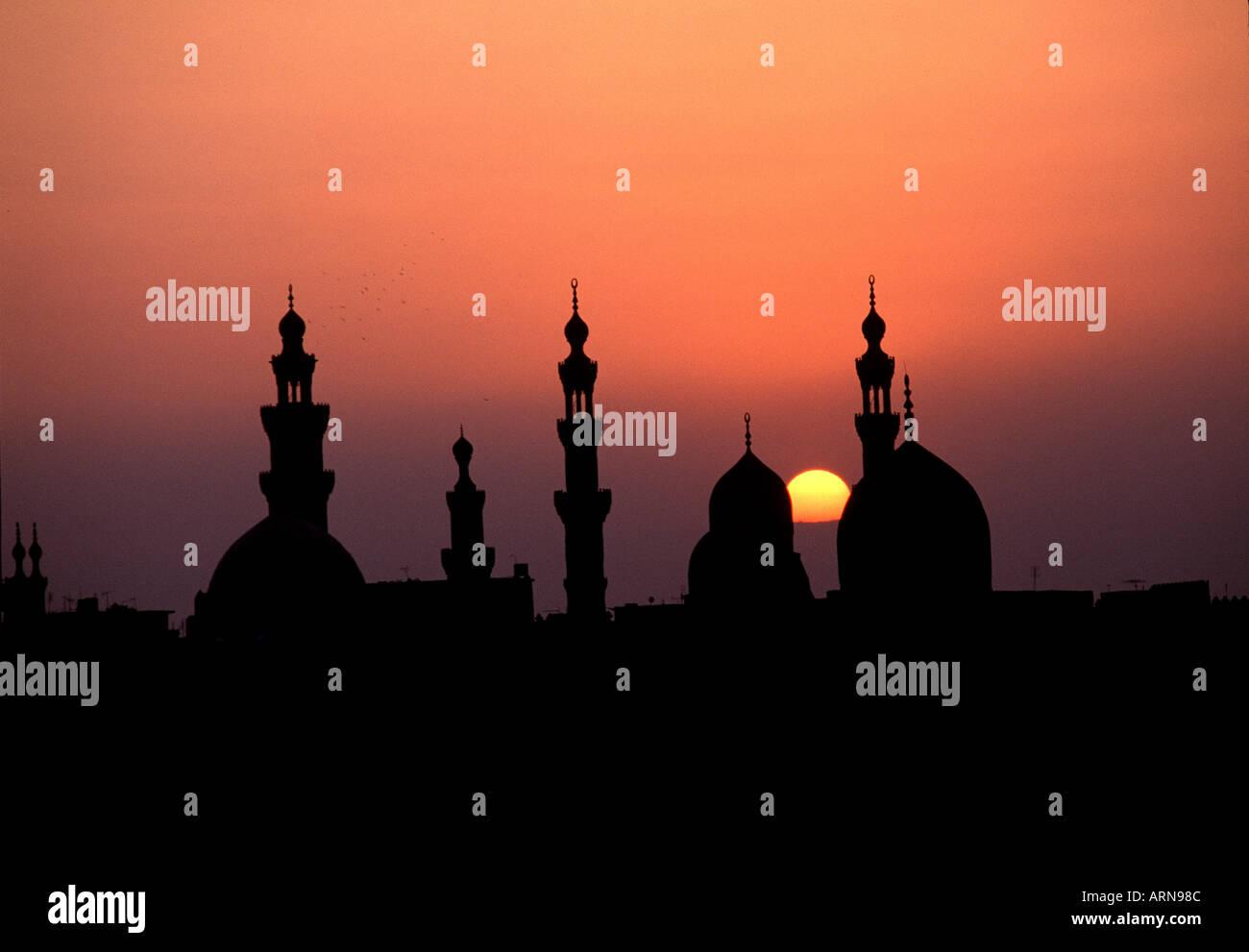 Skyline de Il Cairo in Egitto Immagini Stock