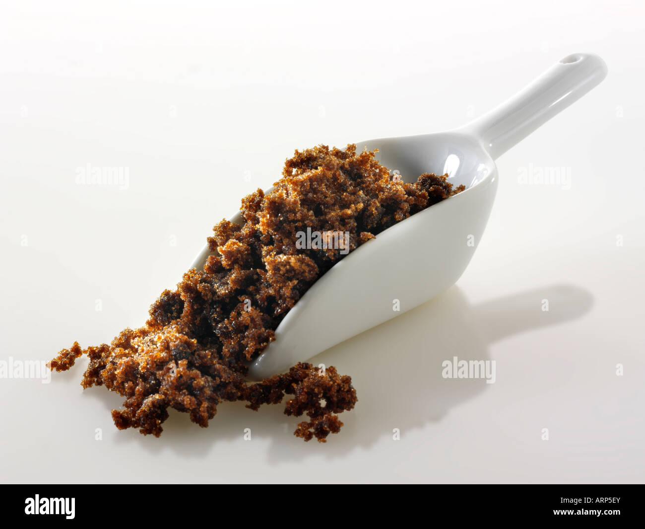 La melassa grezzo di commercio equo e solidale zucchero Immagini Stock