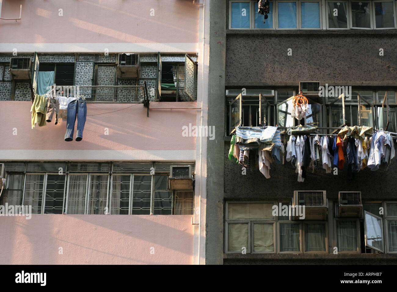 La povertà di Hong Kong Immagini Stock