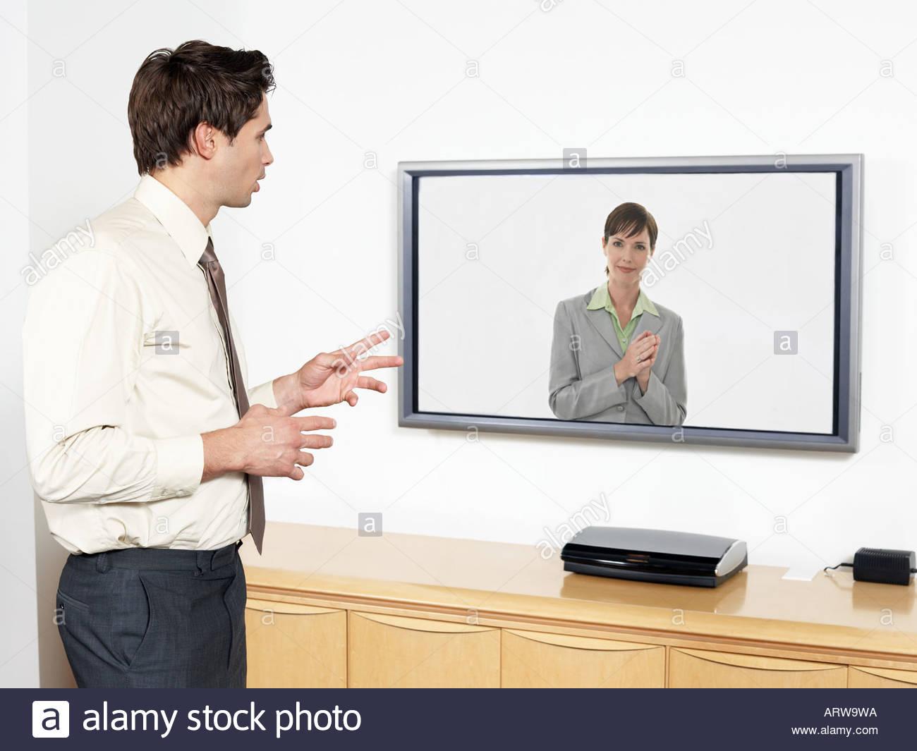 Video conferenza Immagini Stock